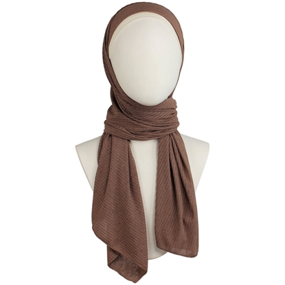Picture of Kuwaiti Medium Brown SO Soft & Light  Hijab