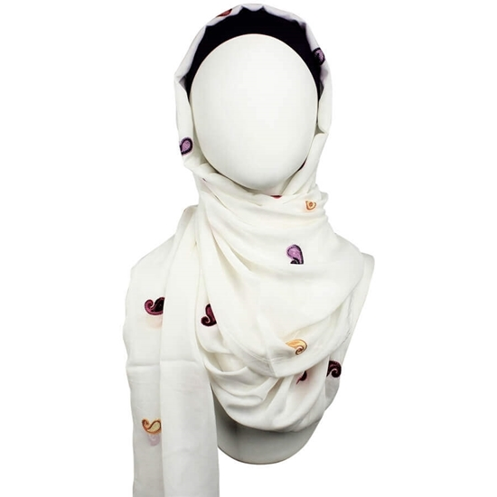 Picture of Let's Freshen Up! Embroidered Paisely Hijab