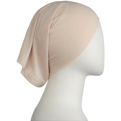 Picture of Neutral Blush Cotton  Spandex Two-Piece Amira - Medium  Size &  Longer Tube Cap