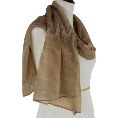 Picture of Kuwaiti Honey Brown Plissé Chiffon  Hijab