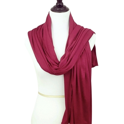 Picture of Maroon Red Comfy Chic Cotton Jersey Hijab  Wrap