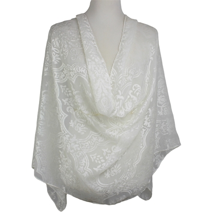 Picture of Chiffon Burnout  Damask Cream Hijab
