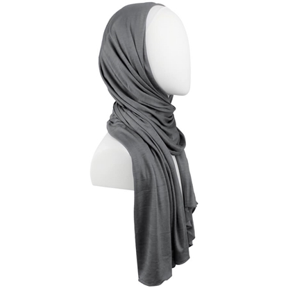 Picture of Kuwaiti Pvement Charcoal Cotton Jersey Hijab