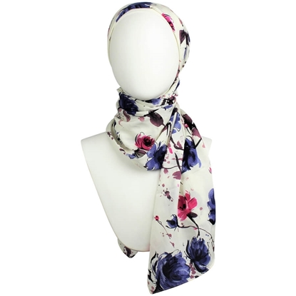 Picture of Berry Floral Rayon Hijab