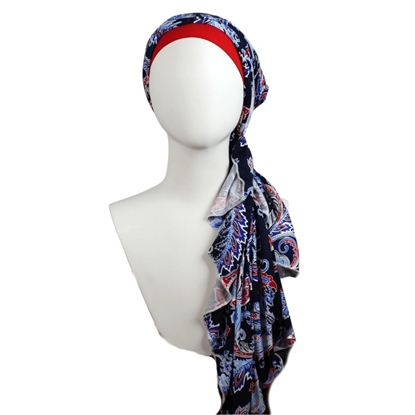 Picture of Grab'n Go Paisely Patterned Jersey Hijab