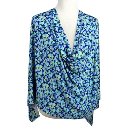 Picture of Aqua Time! Floral Patterned Jersey Hijab