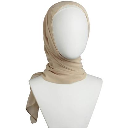 Picture of Chiffon Hijab  Basic Blush Neutral -Textured